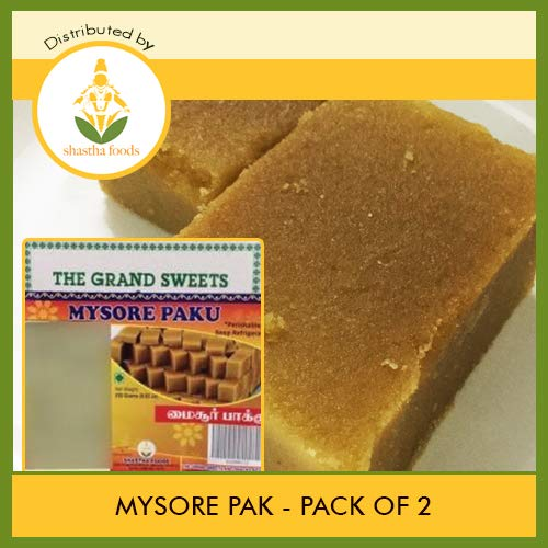 Grand Sweets and Snacks (GSS) Mysore Pak (Pack of 2) Each Pkt 250g (B-P)