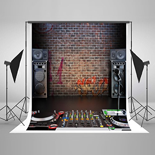 Kate Rock Hip-Hop Photography Backdrops Cotton Washable No Wrinkles Seamless Party Photo Background Photography Props (Hip Hop Backdrop)