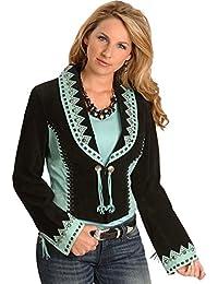 Women's Bolero Leather Jacket - L153-19