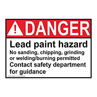Compliancesigns plastic ansi danger lead paint hazard no for What are the dangers of lead paint