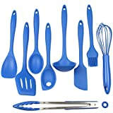 Chef Craft 9 Piece Silicone Kitchen Tool and Utensil Set, Blue