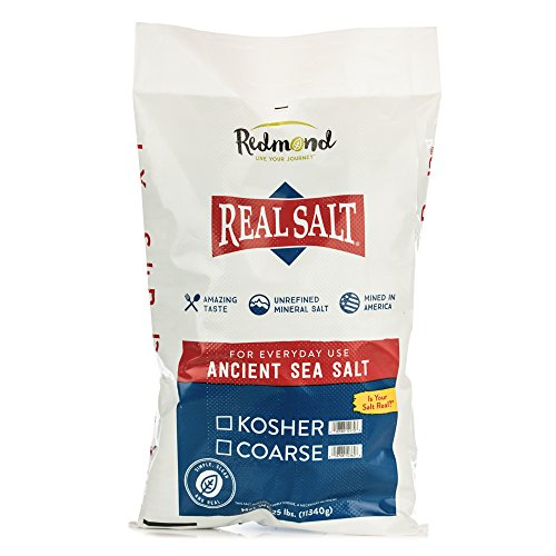 Redmond Real Sea Salt - Natural Unrefined Organic Gluten Free Kosher, 25 Pound Bag by REDMOND