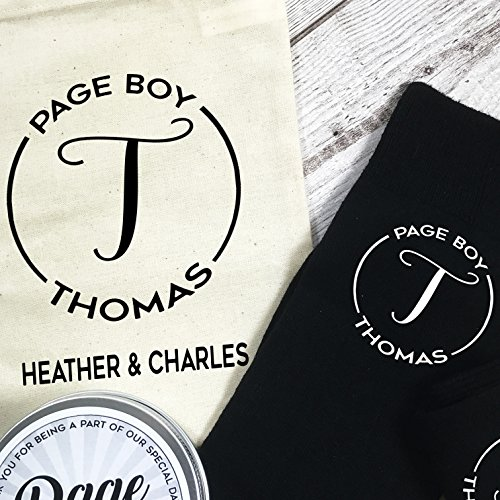 For And Page Tin Personalised Bag Gift Socks Monogram Boy With The 8FFqEI