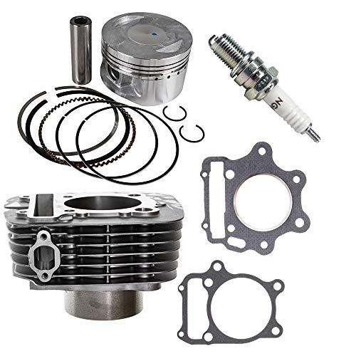 348cc Engine Piston Cylinder Top End Kit For 1987-2011 Yamaha Big Bear Bruin Grizzly Raptor Warrior Wolverine Wheel - Bear Piston Big