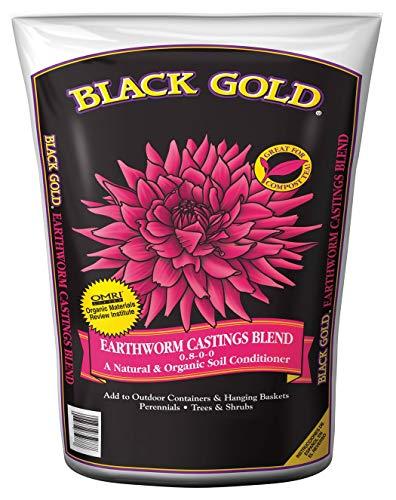 Black Gold 1490302 8 QT P 8 Quart Earthworm Castings Blend ()