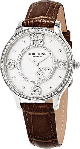 Stuhrling Original Women's 760.01 Symphony Heart Dial Leather Strap Watch