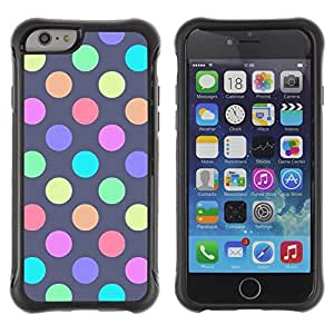SHIMIN CAO@ Vibrant Pastel Polka Dot Purple Rugged Hybrid Armor Slim Protection Case Cover Shell For iphone 6 6S CASE Cover ,iphone 6 4.7 case,iphone 6 cover ,Cases for iphone 6S 4.7