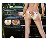 Liili Mouse Pad Natural Rubber Mousepad Blond model washing a car outdoors Photo 5436333