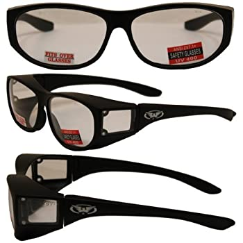 c9f9e3bb60 Escort Over Glasses Clear Lens Safety Glasses Has Matching Side Lens Meets  ANSI Z87.1