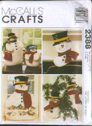 McCall's Crafts, #2388 - Snowman Christmas [cardholder, stocking, ornament, ()