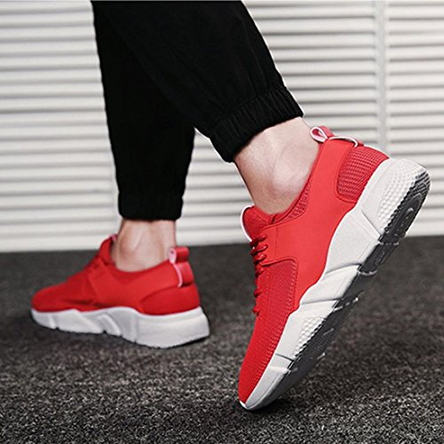 Running Corsa Scarpe Sportive da Colore Uomo Solido Rosso Legato Corsa Donna Casual da Uomo Stripe Sneakers Moda Ginnastica Croce Scarpe da Scarpe Fitness gq4w1gFx8