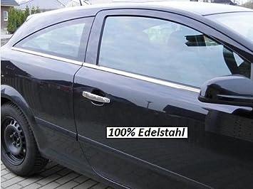Opel Astra H GTC listones de cromo Ventana Juego de 4 piezas de acero inoxidable: Amazon.es: Coche y moto