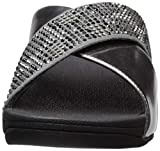 FitFlop Women's LULU Leopard-Crystal Sandal, Steel