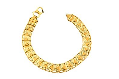 17fbf9a2d Amazon.com: JewelsForum 22K Gold Flat Band Ribbon Bracelet: Jewelry