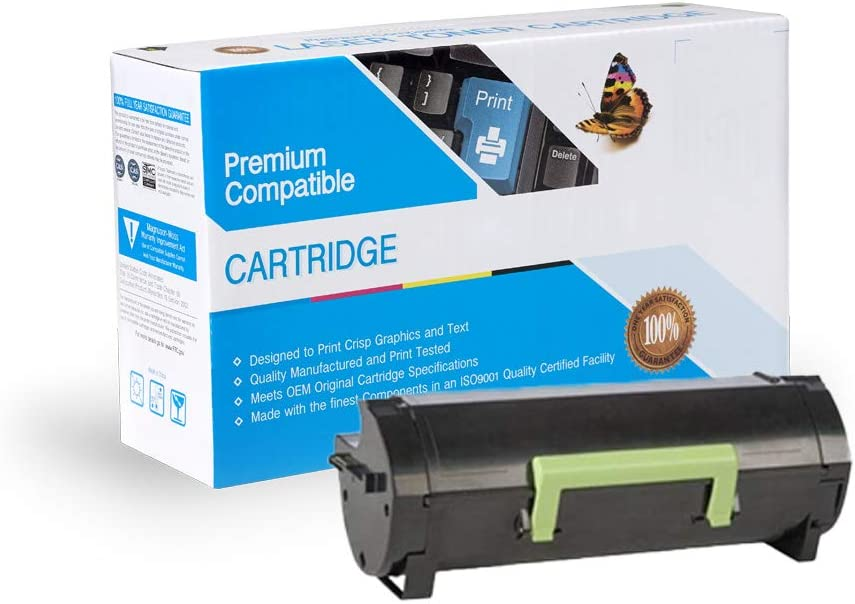 PSX Compatible Toner Ink Replacement for Lexmark 50F1U00 MS510DN 501U Black MS610DTN MS610 MS610DE Works with: MS510 MS610DN MS610DTE