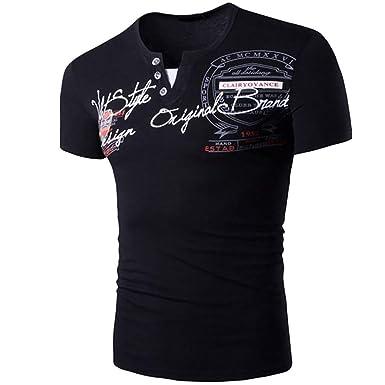 Impreso Polos de Hombre, Honestyi T-Shirt de V-Cuello Tops de ...