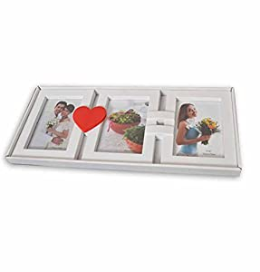 Art Street 'Heart Beat Decoralicious' Photo Frame/Wall Hanging (Wood, 55 cm x 20 cm x 2 cm, White)
