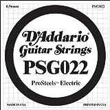 D\'Addario PSG022 ProSteels Electric Guitar Single String, .022