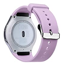 V-Moro Accessories Stainless Steel Watch Bands with Connectors For Samsung Galaxy Gear S2 Smart Watch SM-R720 R730 (Lavender purple)
