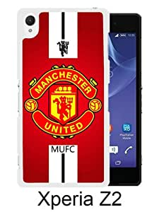 Manchester United 1 White Sony Xperia Z2 Screen Phone Case Durable and DIY Cover