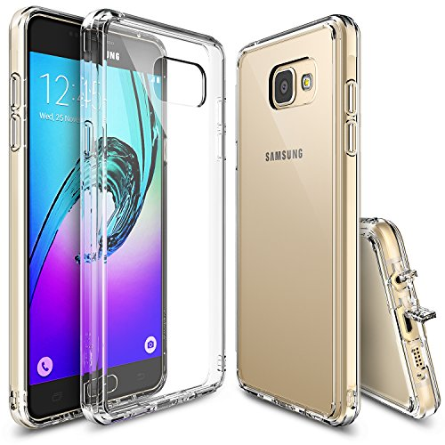Galaxy A5 2016 Case, Ringke [FUSION] Clear PC Back TPU Bumper [Drop Protection / Shock Absorption Technology][Attached Dust Cap] for Samsung Galaxy A5 2nd Gen. 2016 - Clear