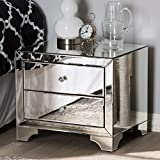 Baxton Studio Hollywood Regency Glamour Style Mirrored 2-Drawer Nightstand