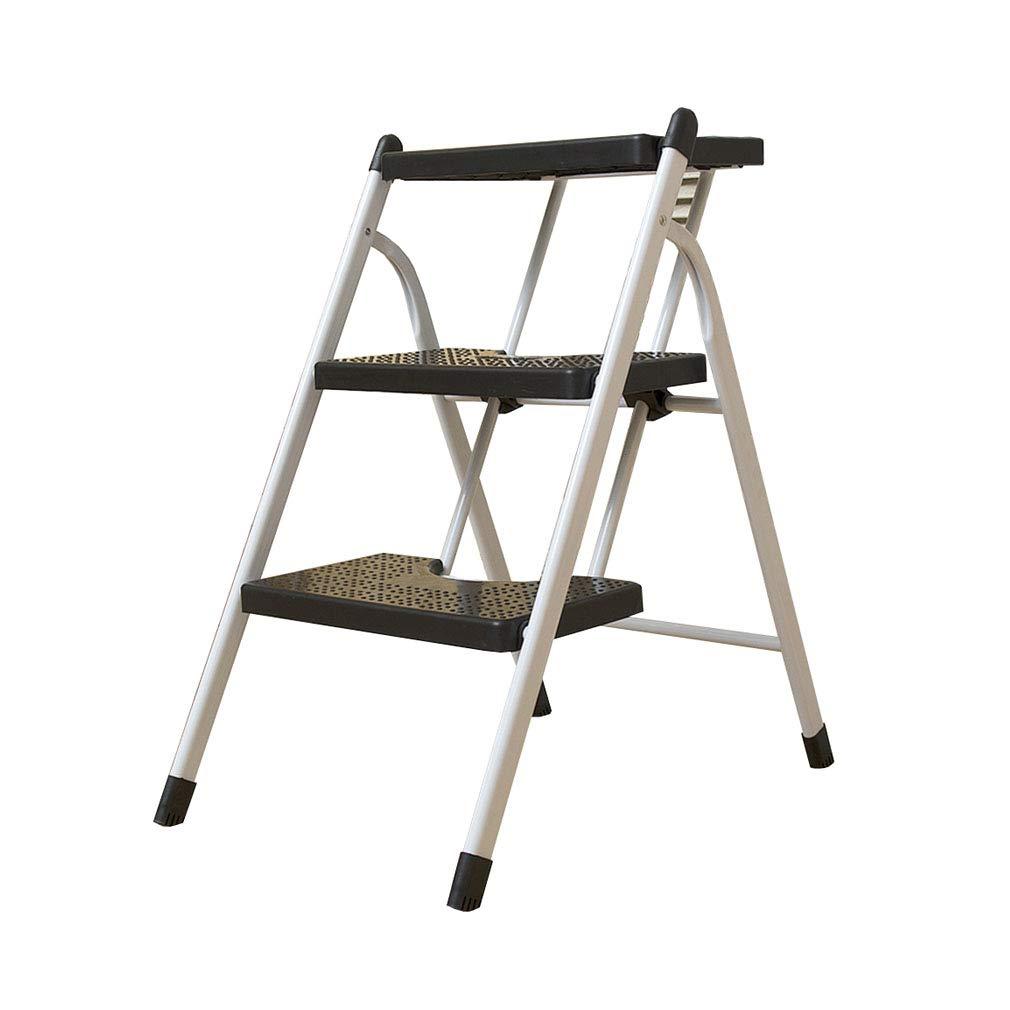 risparmia il 60% di sconto e la spedizione veloce in tutto il mondo SXXDERTY 3 Step Ladder Ladder Ladder Sgabello Pieghevole Portatile Nero poggiapiedi con Tappetino Antiscivolo per l'home Office (41  57.5  68cm)  prezzi eccellenti