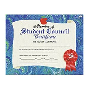 amazon com student council certificate set of 30 blank