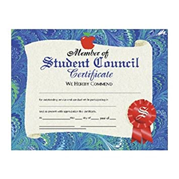 Amazon.com : Student Council Certificate (Set of 30) : Blank ...