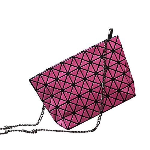 Women Fashion 5-Pcs Set PU Leather Tote Bags-Rose Red - 2