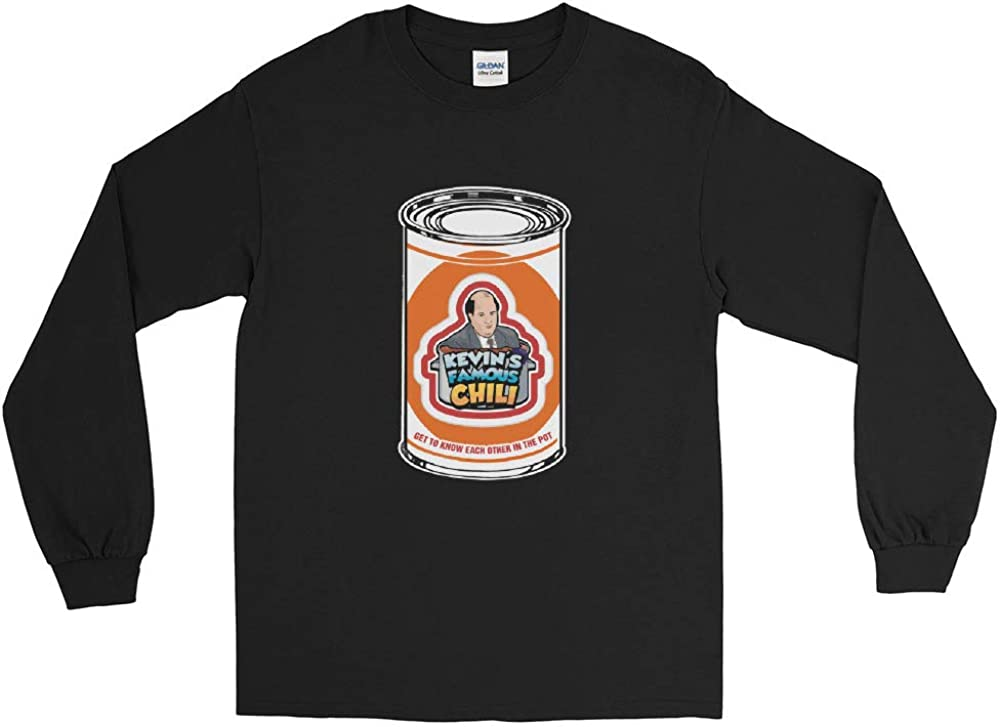 The Office Get to Know Each Other in The Pot Kevins Famous Chili Retro Vintage Men//Women Unisex Long Sleeve T-Shirt