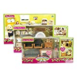 Maven Gifts: Calico Critters Deluxe Bathroom Set, Kozy Kitchen Set, and Deluxe Living Room Set - Mix and Match - For Ages 3 and Up