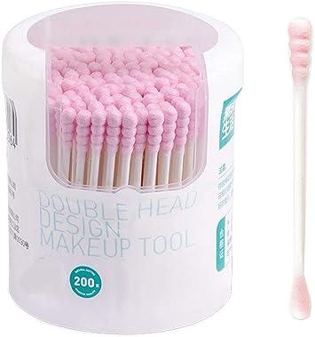 Bastoncillos de algodón con mango de papel para limpiar maquillaje ...