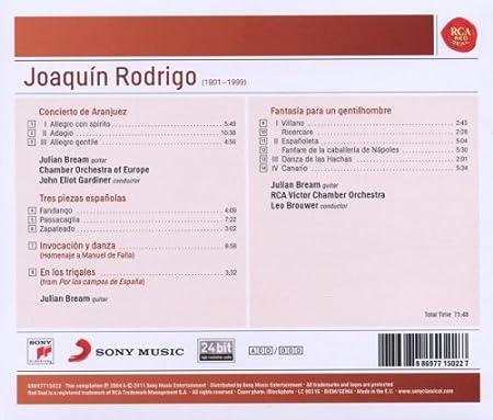 Amazon.com: Rodrigo: Concierto De Aranjuez; Tres Piezas ...