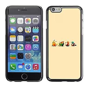 EJOY---Cubierta de la caja de protección la piel dura para el / Apple Iphone 6 Plus 5.5 / --Lindo empuje Ilustración de dibujos animados Monster