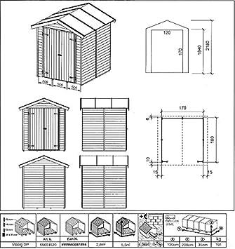 Silvia Gartenpro - Caseta de jardín (madera de abeto natural): Amazon.es: Jardín