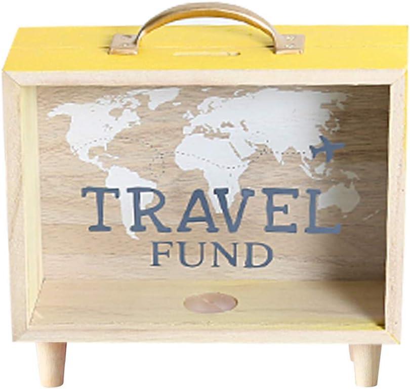 Sweet FanMuLin Shadow Box Frame, Wooden Money Box, Wedding Wood Bank (Travel Fund)