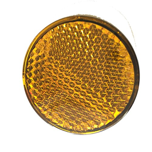 NAT - Reflex Reflectors - For Truck, Trailer , Lorry - Round - Amber - 10Pcs