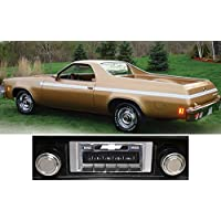 1973-1977 Chevrolet El Camino USA-630 II High Power 300 watt AM FM Car Stereo/Radio with AUX Input, USB Input, iPod Docking Cable. No modifications to original dash required.