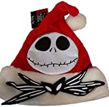 Disney Nightmare Before Christmas Jack Skellington Santa Hat Red
