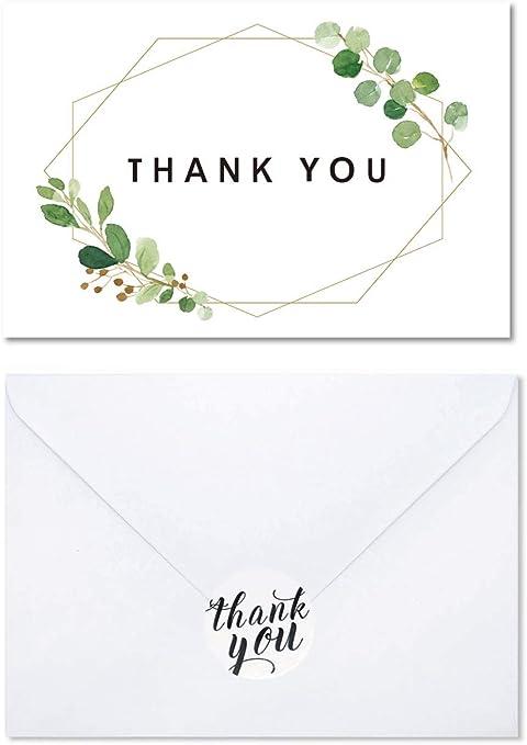 Amazon.com: Watercolor Follage Tarjeta de agradecimiento ...
