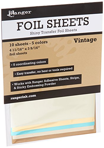 Vintage Foil Sheets (10 Sheets - 5 Colors) -