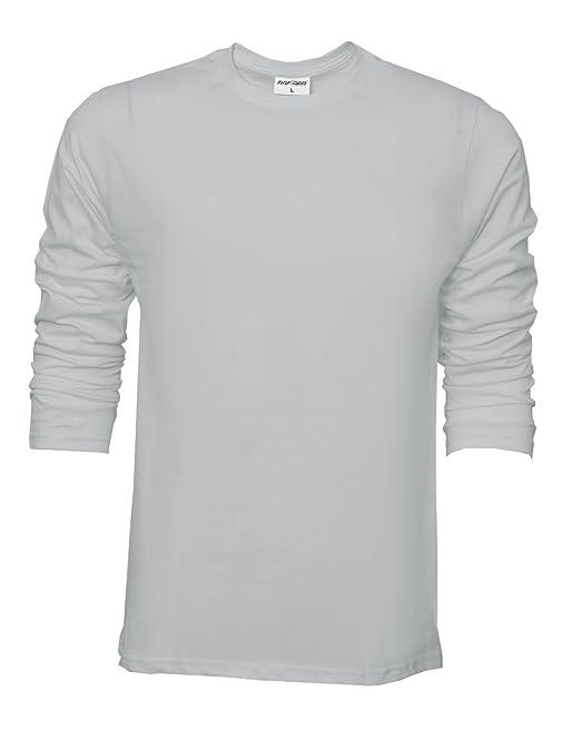 Camiseta básica de Raftaar® para hombre, de manga larga, 100% algodón ligero, color azul: Amazon.es: Ropa y accesorios