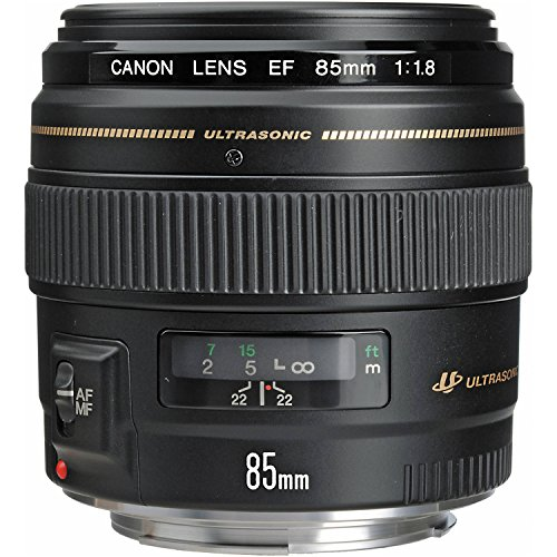 - Canon EF 85mm f/1.8 USM Medium Telephoto Lens for Canon SLR Cameras - Fixed