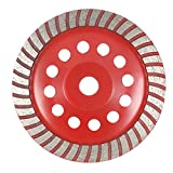 Walmeck 7'' Diamond Segment Grinding Wheel Disc Bowl Shape Grinder Cup 22mm Inner Hole for Concrete Building Industry