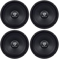 (4) Rockville RM88PRO 8 8 Ohm 1200 Watt SPL Midrange/Mid-Bass Car Speakers