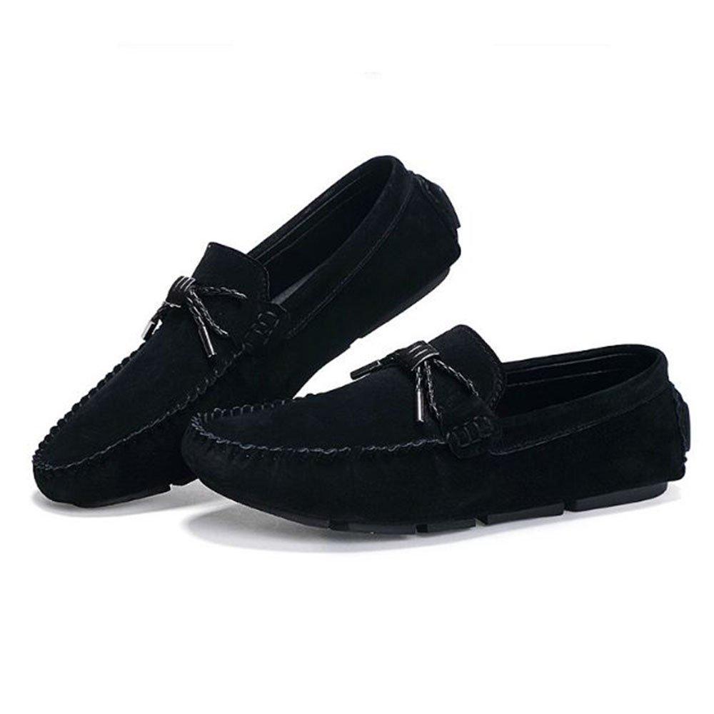 AFCITY Fahren Sommer Männer Weichen Boden Fahren AFCITY Schuhe Breathable Casual Lederschuhe Klassischer Stiefelschuh (Farbe : Grau, Größe : 42 2/3 EU) Schwarz 6a292c