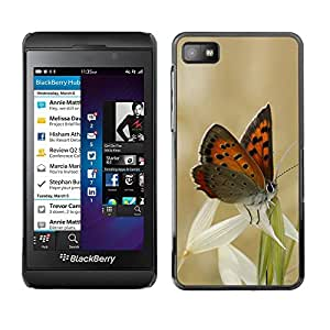 LECELL -- Funda protectora / Cubierta / Piel For Blackberry Z10 -- Butterflies and grass --