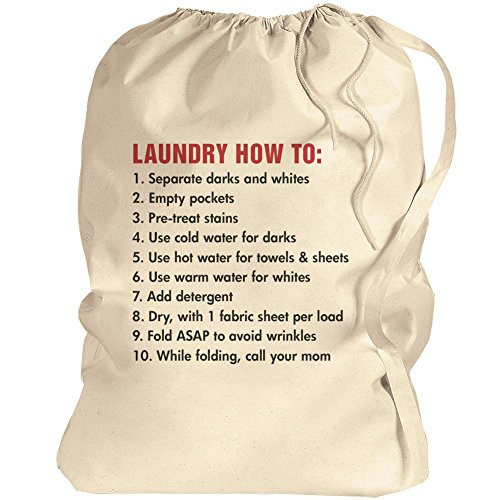 Best Laundry Bag For College Students - College Student Gift: Canvas Laundry