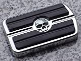 i5 Chrome Skull Rear Brake Pedal Cover for Harley Davidson.